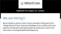 Highlands Art League: We are Looking to Grow our Team!